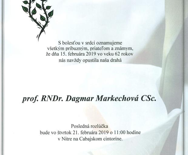 prof. RNDr. Dagmar Markechová, CSc.
